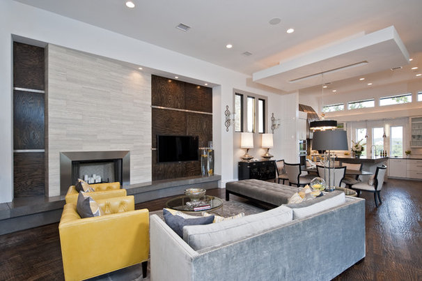Modern Family Room by Triton Austin