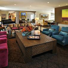 Contemporary Family Room by Linda Seeger Interior Design