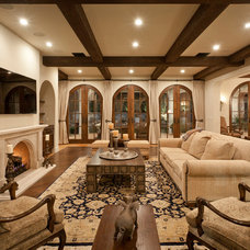 Mediterranean Family Room by Marsha Cain Designs