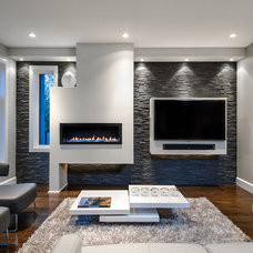 Contemporary Family Room by Jenny Martin Design