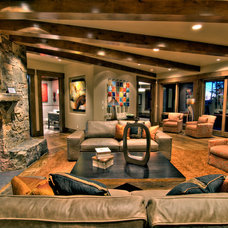 Contemporary Family Room by Your Choice Custom Cabinets