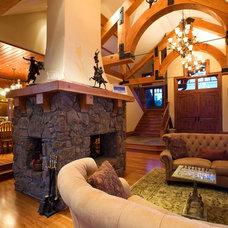 Traditional Family Room by Markay Johnson Construction