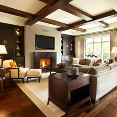 contemporary family room by Parkyn Design