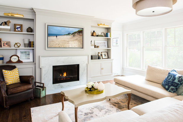Transitional Family Room by Roost Interiors