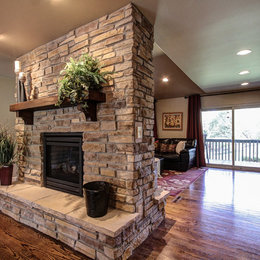 Double Sided Gas Fireplace Home Design Ideas, Pictures, Remodel and ...
