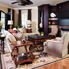 mediterranean family room by Kim Armstrong