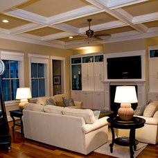 Traditional Family Room by Whitney Blair Custom Homes