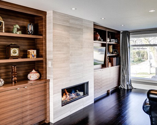 Modern Tile Fireplace Houzz