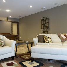 Eclectic Family Room by JP&CO. Samantha Grose, Designer
