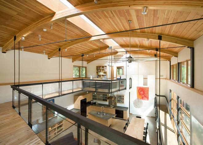 Contemporary Family Room by Balance Associates Architects