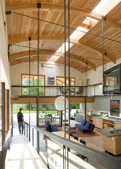 Contemporary Family Room by Prentiss Balance Wickline Architects