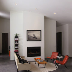modern family room by Imbue Design