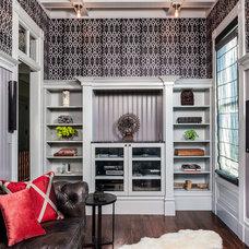 Contemporary Family Room by Aaron Gordon Construction, Inc.