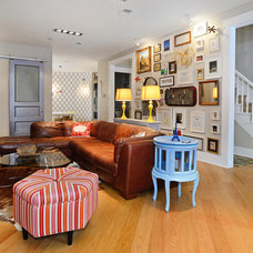 Eclectic Family Room by Hudson Place Realty
