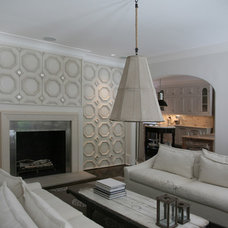 Contemporary Family Room by The Belding Group, Inc