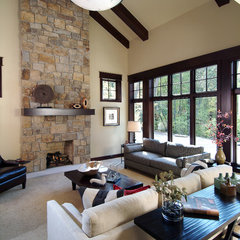 traditional family room by Visbeen Associates, Inc.