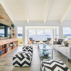 Beach Style Family Room by Johnson + McLeod Design Consultants