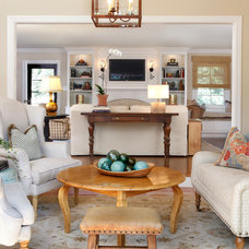 Traditional Family Room by AJ Margulis Interiors