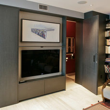 Contemporary Family Room by Lotus woodworks