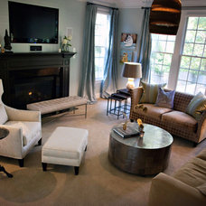 Eclectic Family Room by Heather Garrett Design