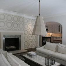 Mediterranean Family Room by David Favero