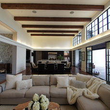 Transitional Family Room by Robert J. Neylan Architects, Ltd.