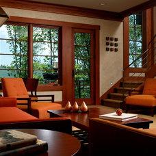Contemporary Family Room by JK Interiors