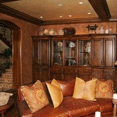 Mediterranean Family Room by Interior Art