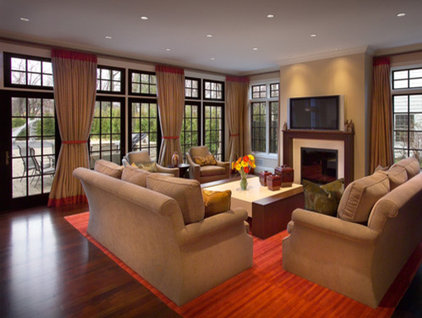 Traditional Family Room by FWC Architects, Inc.