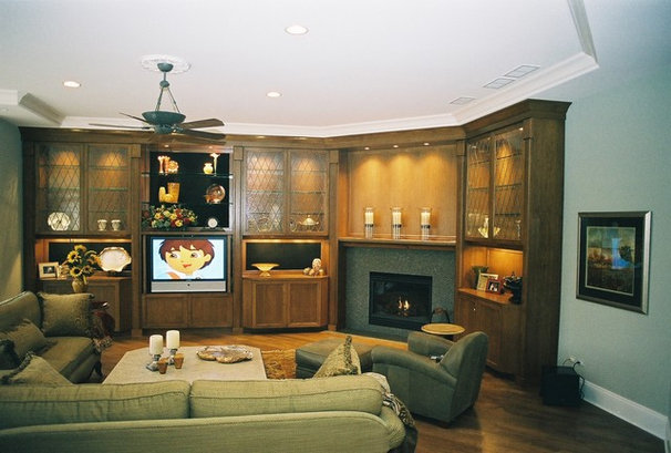 Traditional Family Room by B. W. Interiors Chicago