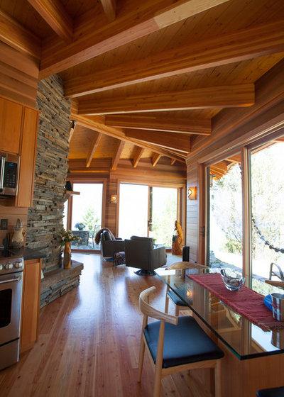 Rustic Family Room by Sayler | Owens | Kerr design studio