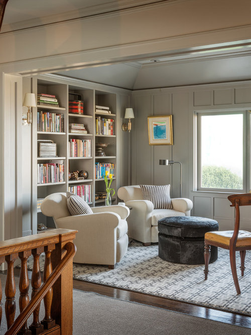 Family Room Library: Gray Wood Paneling Ideas, Pictures, Remodel And Decor