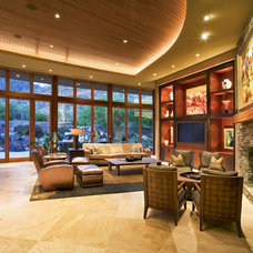 Contemporary Family Room by Robinette Architects, Inc.