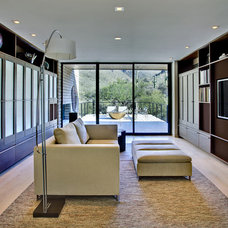Contemporary Family Room by John Senhauser Architects