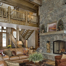 Traditional Family Room by Teton Heritage Builders