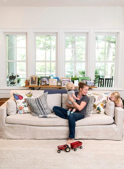 Farmhouse Family Room by Alys Design