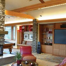 Traditional Family Room by House Plans and More