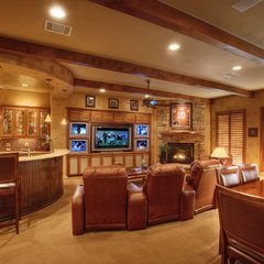 media room by Sterling Custom Homes