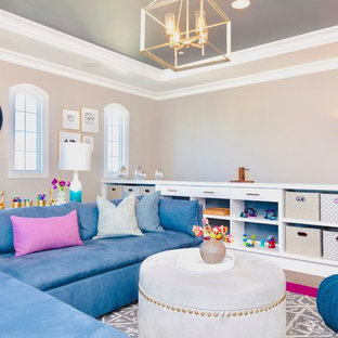 Playroom/Family Room - Contemporary Style