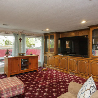 Pleasant Family Room with Large New Windows