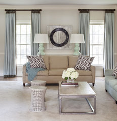 contemporary family room by Tobi Fairley Interior Design