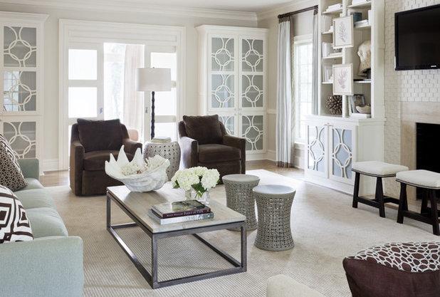 Fusion Family  Room by Tobi Fairley Interior Design