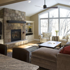 traditional family room by Knight Construction Design | Chanhassen, Minnesota