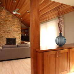 contemporary family room by Knight Construction Design | Chanhassen, Minnesota