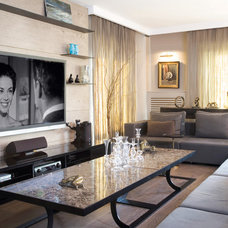 Contemporary Family Room by esra kazmirci mimarlik
