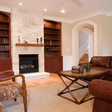 Traditional Family Room by Stone Acorn Builders