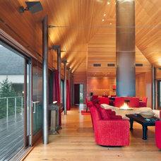 Contemporary Family Room by Elliott + Elliott Architecture