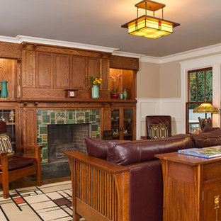 Pond House Family Room with Fireplace