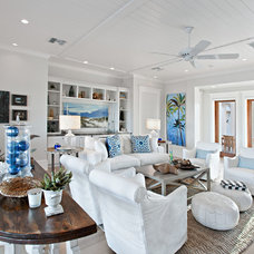 Beach Style Family Room by Beach Chic Design