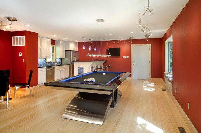 Contemporary Family Room by Aplus Interior Design